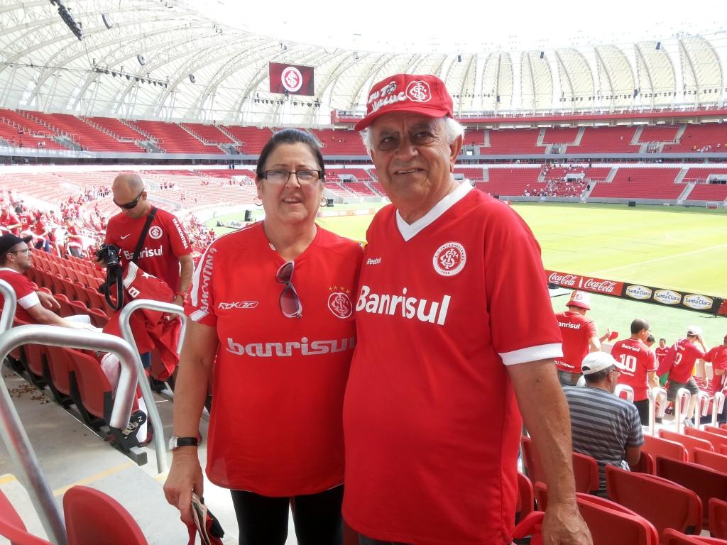 Reinauguração Estádio Beira-Rio. 06/04/2014. Mãe e Pai.